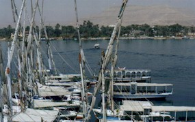 Boats on the East Bank of the Nile @ Luxor