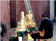 Restoring temple statues